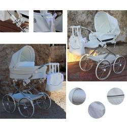 PACK Cochecito DUO Bytax Elita 9 con capazo bolso y silla para muñeco reborn