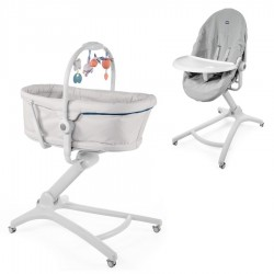 PACK Minicuna Multifunción Chicco Baby Hug 4 en 1 AIR con bandeja y funda higienica