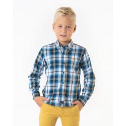 Camisa Spagnolo cuello boton gabardina cuadros 4525