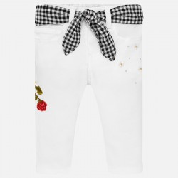 Pantalon largo Mayoral sarga bordado