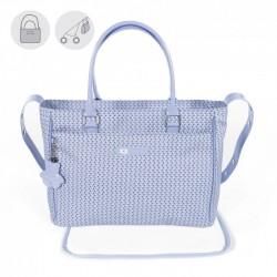 Bolsa Canastilla Pasito a Pasito Shopie Azul