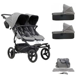 PACK Cochecito Gemelar Mountain Buggy Duet Luxury Collection Herringbone