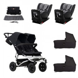 SUPERPACK GEMELOS Mountain Buggy Duet 3.0 con ROMER DUALFIX I-SIZE con reductor