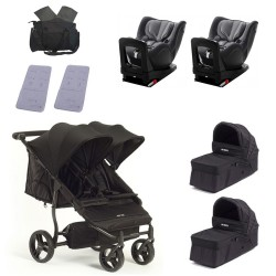 SUPERPACK GEMELOS Baby Monsters Easy Twin 3.0 + Britax Römer DUALFIX I-SIZE con reductor