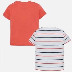 Set 2 camisetas Mayoral manga corta rayas