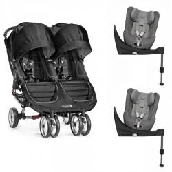 Silla Baby Jogger City Mini GEMELAR con 2 Cybex Sirona S
