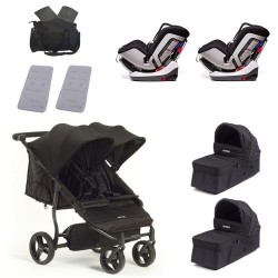 SUPERPACK GEMELOS Baby Monsters Easy Twin 3.0 con Chicco Seat UP 012