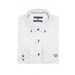 Camisa Spagnolo cuello boton popelin estampado 4640