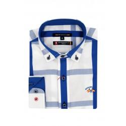 Camisa Spagnolo cuello boton polo bandera 4768