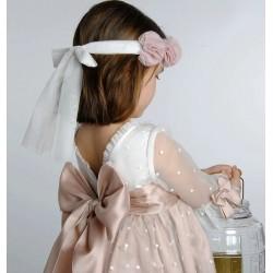 Vestido Mamen tul plumeti topos
