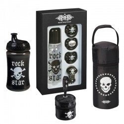 PACK Botella, biberon, 3 chupetes y fundas Tutete Rock Star Pirata