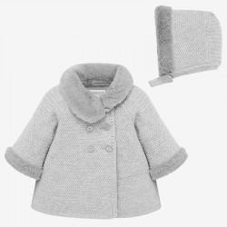Abrigo tricot Mayoral con capota