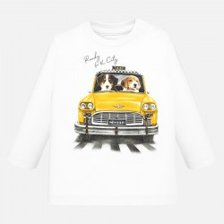 Camiseta Mayoral manga larga taxi