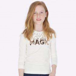 Camiseta Mayoral manga larga magic lentejuela