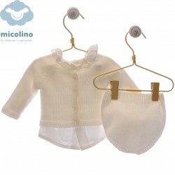 Conjunto blusa, rebeca y braguita Micolino Adrián