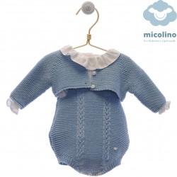 Conjunto blusa y braguita Micolino Leo