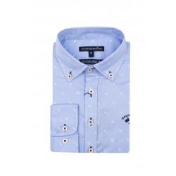 Camisa Spagnolo cuello boton oxford estampada 4640