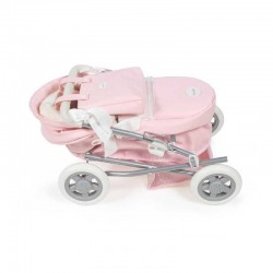 Cochecito de muñeca pequeño La Nina VINTAGE Charol Rosa