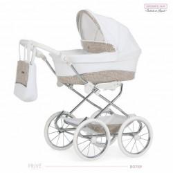 Cochecito para bebe Reborn Bebecar Mini Style con bolso B0769 PRIVE CROMADO