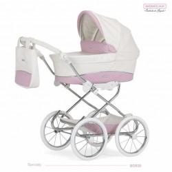 Cochecito para bebe Reborn Bebecar Mini Style Ecopiel con bolso B0928
