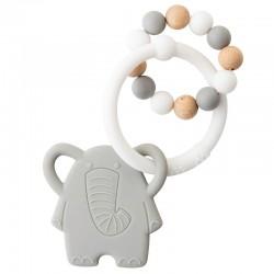 Mordedor silicona elefante Nattou