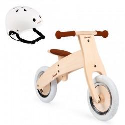 PACK Bicicleta natura Janod para personalizar y casco
