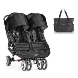 PACK Silla Baby Jogger City Mini gemelar con bolso con cambiador