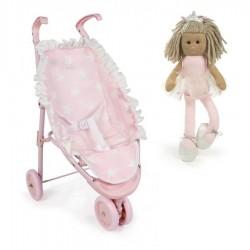 PACK Silla 3 ruedas La Nina Carlota con muñeca Bailarina