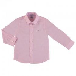 Camisa Mayoral manga larga lino básica