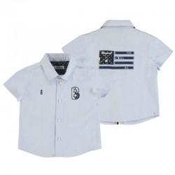 Camisa Mayoral manga corta apliques