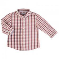 Camisa Mayoral manga larga cuadros
