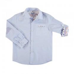 Camisa Mayoral manga larga contrastes