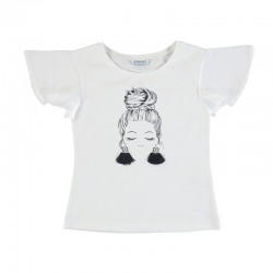 Camiseta Mayoral manga corta niña pendientes