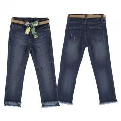 Pantalón largo Mayoral tejano slim crop