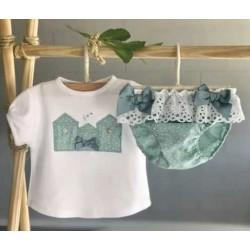 Conjunto camiseta y braga Valentina Puntillas