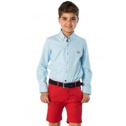 Camisa Spagnolo cuello popelin estampado 4640