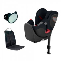PACK Silla Auto CYBEX-GB Convy-fix con protector y espejo acontramarcha