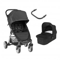 PACK Cochecito Duo Baby Jogger City Mini 2 de 4 ruedas con barra apoyabrazos