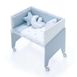 Minicuna Colecho Alondra EQUO CELESTE con Set Téxtill y colchón