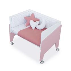 Minicuna Colecho Alondra EQUO ROSA con Set Téxtill y colchón
