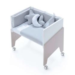 Minicuna Colecho Alondra EQUO BEIGE con Set Téxtill y colchón