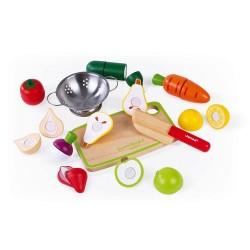 Set de frutas y verduras Janod Velcro