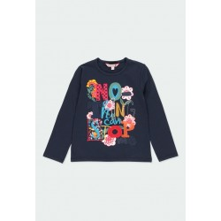 Camiseta punto Boboli elástico Flores