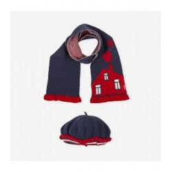 Boina y bufanda de tricot Tutto Piccolo