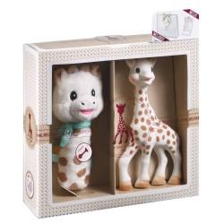 Mi primer set Sophie la girafe + Sonajero peluche Cri-Cri