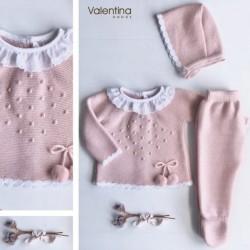 Conjunto 3 piezas Valentina punto Bodoque