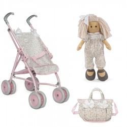 PACK VIOLETA con muñeca Marta bolso y silla grande