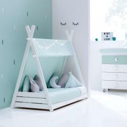 Toldo textil Alondra para cama Montessori HOMY de 70x140 cm