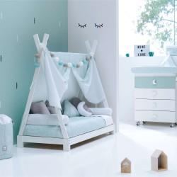Toldo textil Alondra para cama Montessori INDY de 70x140 cm
