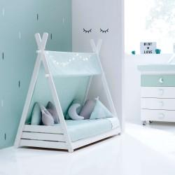Toldo textil Alondra para cama Montessori HOMY XL de 90x200 cm